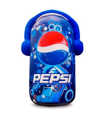 lata con audifonos pepsi